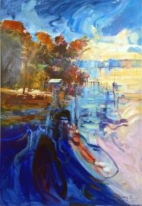 Ken Strong, Cast Off Chesapeake, 31.5x36.5, Oil on canvas