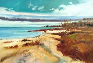 Ken Strong, Chesapeake Bay Mathews County, 36X24, Oil on canvas