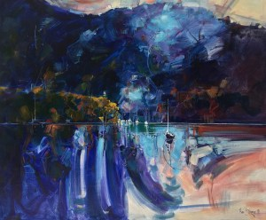 Ken Strong, Hawkesbury 6am, Oil on canvas