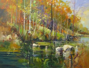 Ken Strong, Rivers Edge, 28x36, Oil on canvas
