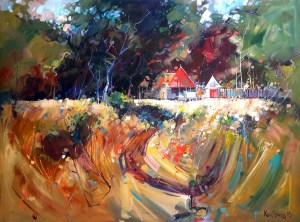 Ken Strong, The River Cabin, 36x48, Oil on canvas