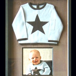 baby sweater and photo shadowbox