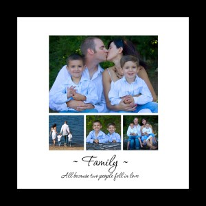 20x20 blank family collage