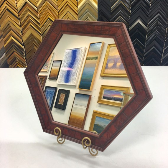 Custom Hexagon Mirror