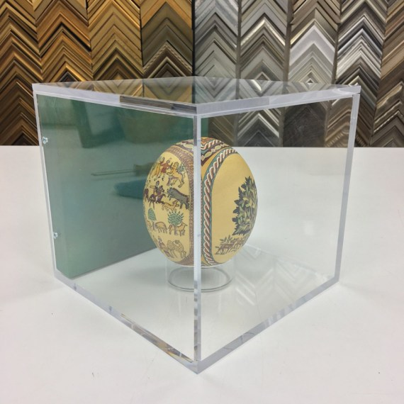 Hanging Acrylic Case for Ostrich Egg