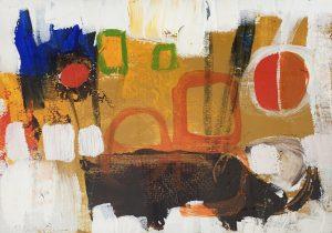 "Buck Nelligan, ""City Lights 3"", 6"" x 7"", Acrylic on Paper"