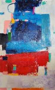 """Buck Nelligan, """"Untitled Abstract 7"""", Acrylic on Canvas, 30"""" x 48"""""""