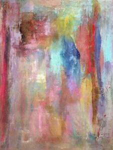 """Courtney Kolker, """"Canopee"""", 40"""" x 30"""", Acrylic on Canvas"""