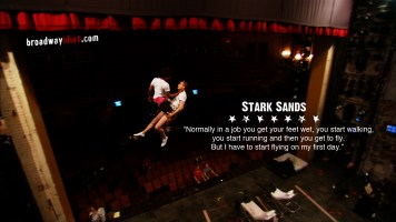 Stark came into the American Idiot company for Broadway and had a lot of catching up to do to keep up with the fast paced show and experienced cast. But he's a theater and TV pro, and was was quickly one of the show's stars.