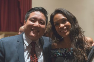 BROADWAY STAGES GENERAL COUNSEL ANTHONY K.C FONG ESQ. WITH ROSARIO DAWSON