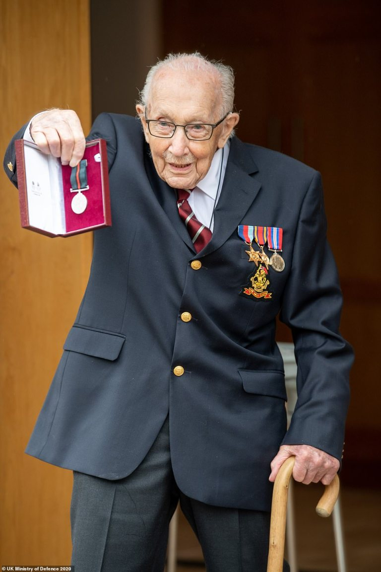 Colonel Tom Moore is 100 today!
