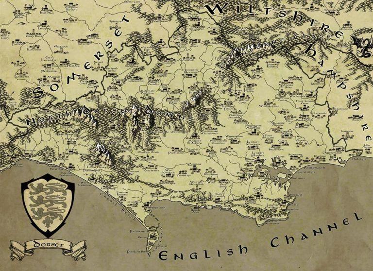 Fantasy Dorset Map