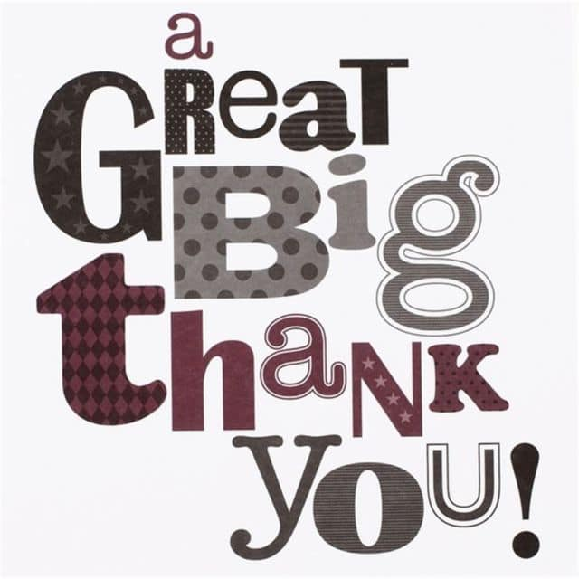 A Great Big Thank You!