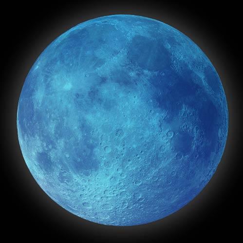 Blue Full Moon on Hallowe'en
