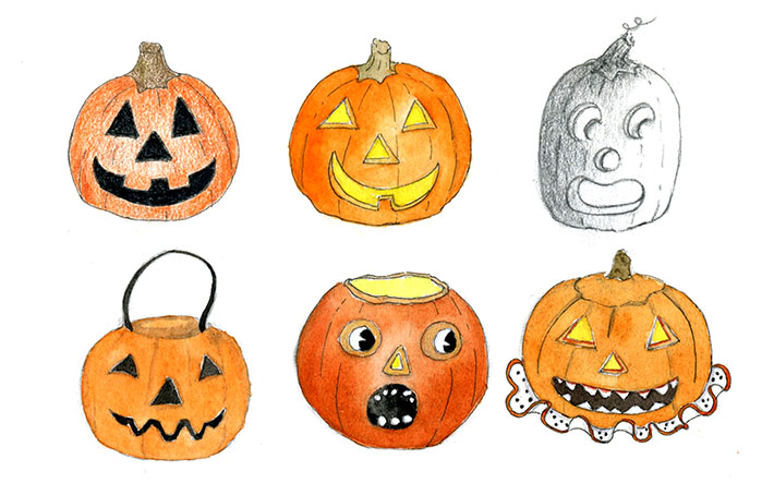 Draw A Pumpkin for Your Window in Half Term Holiday