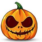 Draw a pumpkin for Hallowe'en