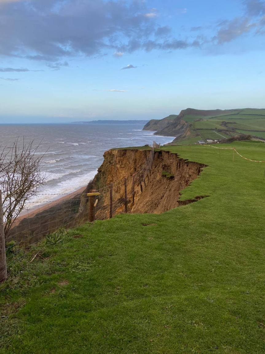 Cliff Fall Near West Bay