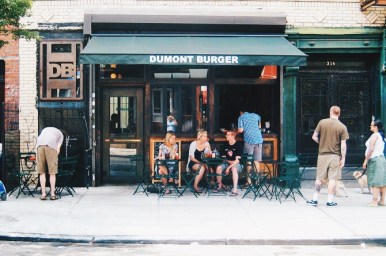 """Dumont Burger is home of the best Mac n Cheese you'll ever taste. That is not an exaggeration. They use a mix of parmesan and gruyere cheeses with chunks of ham that they so humbly describe as """"bacon"""". In our engagement season, my wife and I would come here to spend more than we could afford on some good stress-food. Tragically, the owner of the Union Ave location committed suicide, leading to the sudden closing of the establishment. Those who do or do not know of the tragedy can still enjoy a Dumont burger with some Dumac n cheese at the Williamsburg location that is still up and running. Successfully, I might add."""