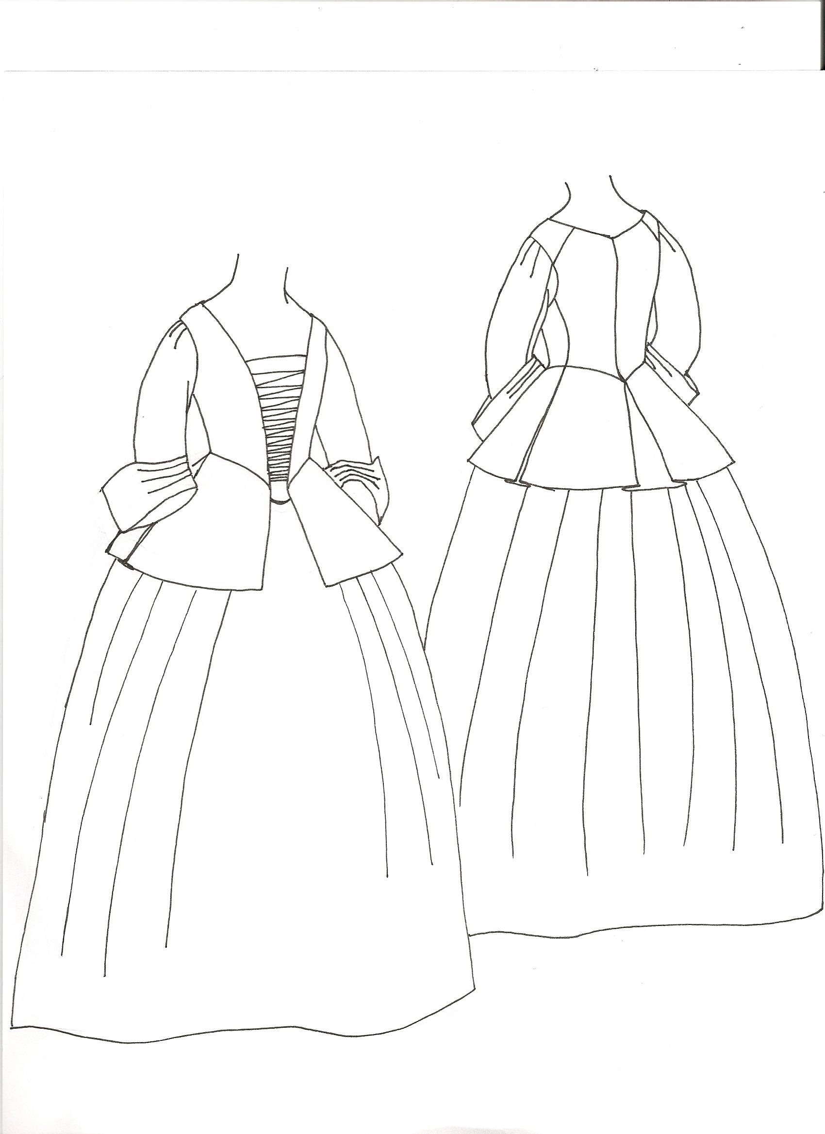 Calico Jacket And Petticoat