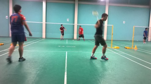 Playing some badminton - these guys were GOOD