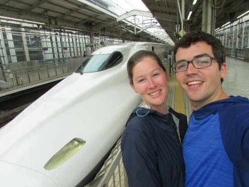 A bullet train from Tokyo to the Mount Fuji area