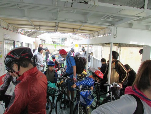It was a crowded ferry of prospective bikers that morning!