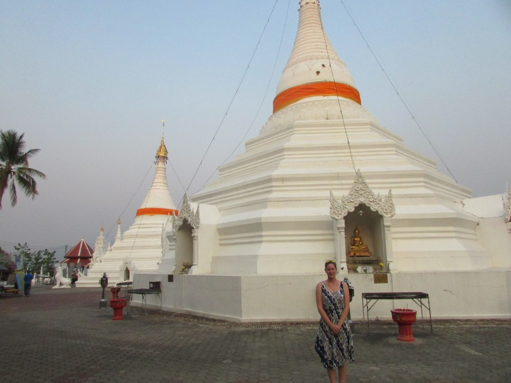 Twin Chedis at the top of Doi Kongmu