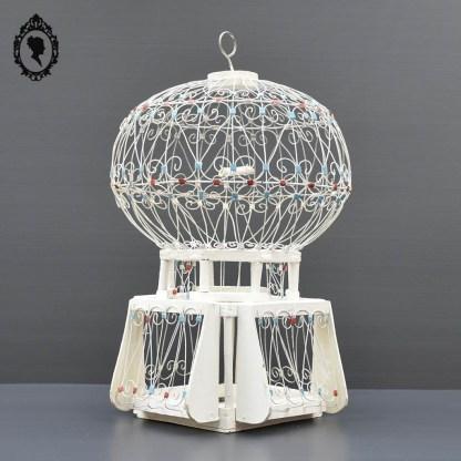 Cage, cage oiseau, cage volutes, cage décorative, cage ancienne, cage vintage, cage orientale, cage orientale, cage style orientale, cage blanche, cage ronde, cage oiseaux ancienne, cage oiseau vintage,