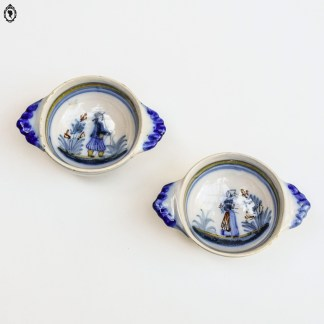 Bol, bol vintage, bol français, bol blanc, bol crème, bol motif géométrique, bol Quimper, Quimper, bol charmant, bol chic, vaisselle française, bol collection, objet de collection, collection cuisine, bol français, bol France, collection France, cuisine populaire,