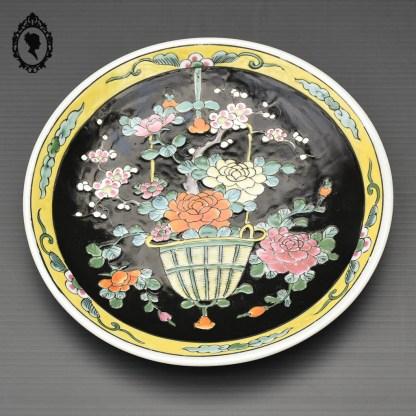assiette, assiette asiatique, assiette porcelaine, assiette asiatique porcelaine, assiette Yamatoku, assiette Meiji, Meiji, Yamatoku, assiette ancienne, assiette asiatique ancienne, assiette peint à la main, assiette japonaise, assiette collection, objet asiatique, objet d'art, objet d'art asiatique, objet Japonais, vaisselle japonaise, collection du Japon, objet de collection du Japon, Japon vintage, plat, plat japonais, plat porcelaine japonais, vaisselle Meiji, assiette pivoine, assiette fleurie,