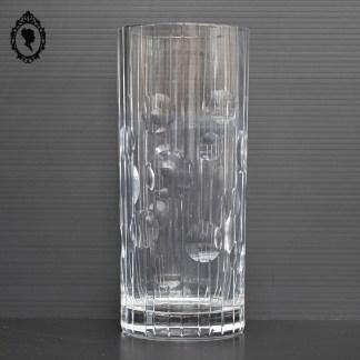 Vase, vase cristal, vase cylindrique, vase rond, vase cristal blanc, vase rond, vase ciselé, vase chic, vase élégant, vase vintage, vase ancien, brocante chic, verrerie, verrerie cristal,