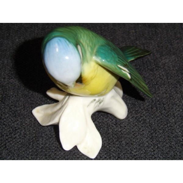 Oiseau Msange Bleue En Porcelaine De Saxe Sign Karl Ens
