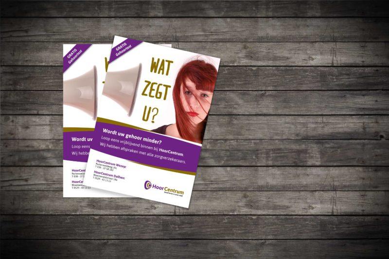 flyers voor hoorcentrum