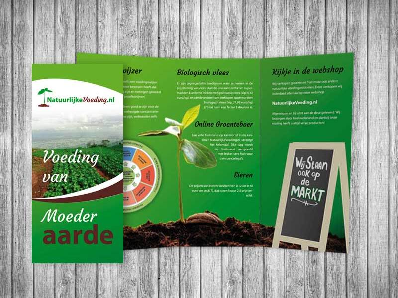 folder, Tri-fold, Natuurlijke voeding