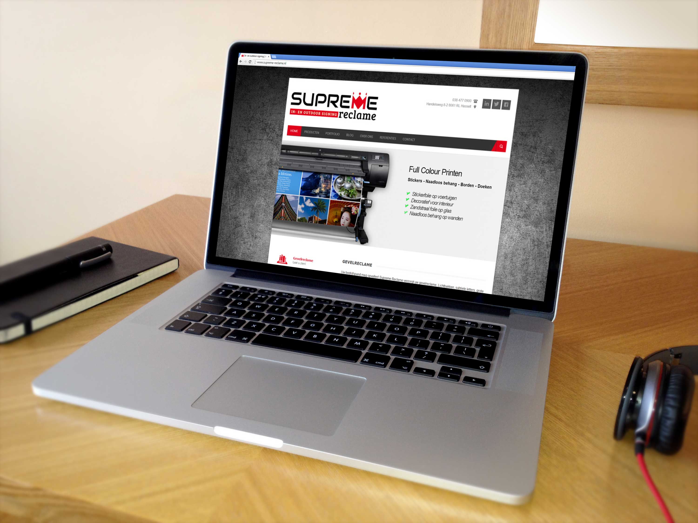 WordPress website, Supreme reclame