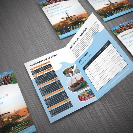 Folder ontwerp, Molenhuis, folder ontwerpen Amsterdam