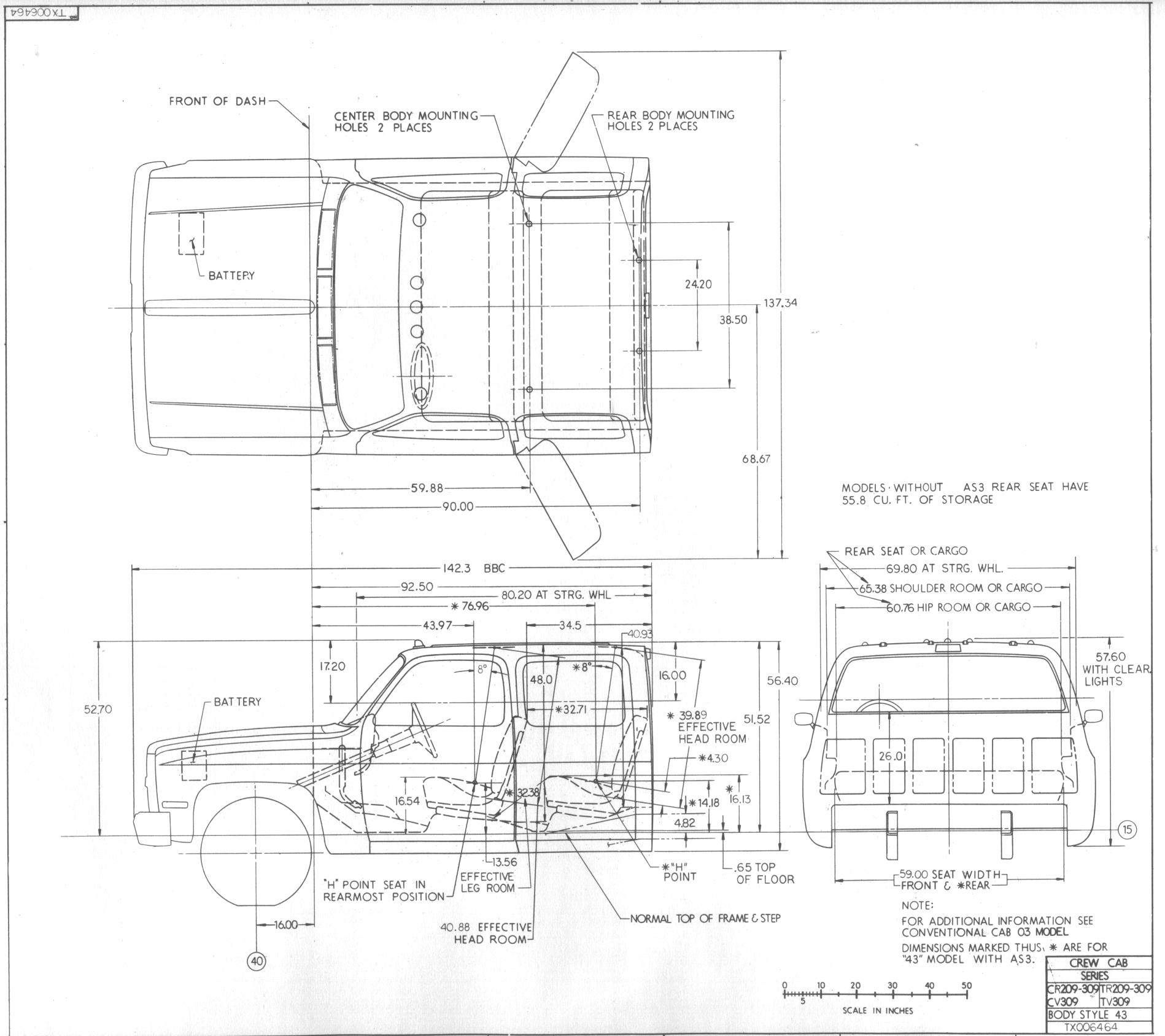 88 98 Chevy Truck Frame Dimensions