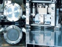 Walze, Walzgrüst Seitenaufnahme, im Kaltwalzwerk walzen wir mit einer Eingangsdicke von bis zu 16 mm und erreichen Feinschneidqualitäten im gesamten Dickenspektrum beginnend bei 0,8 mm.