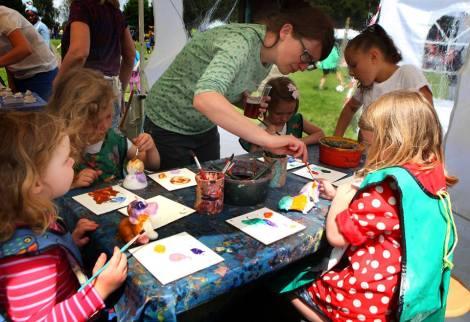 Children's workshops at Brockley Max 2014