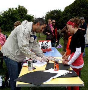 Craft workshop at Art In The Parlk