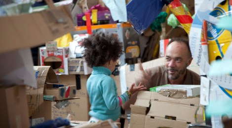 Cardboard City at Leander Centre, Deptford