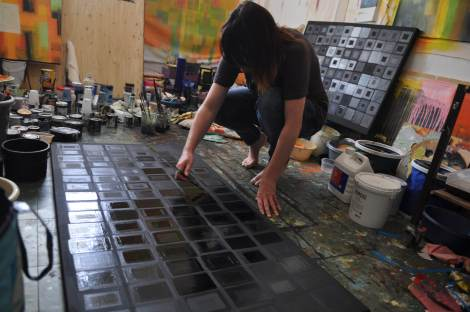 Photo of Sara Twomey's studio