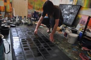 Photo of Sara Twomey's studio