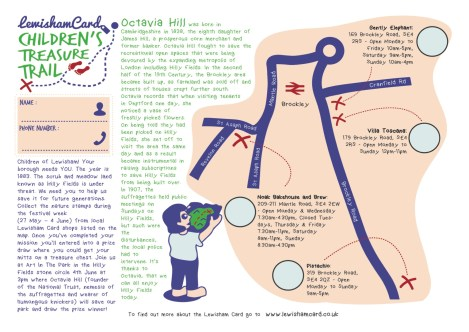 Treasure Trail Map - page 1