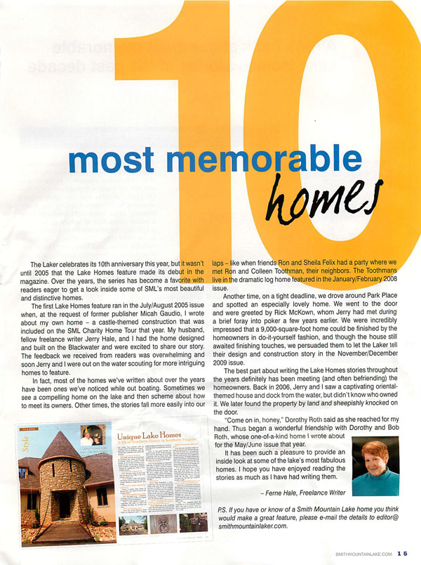 BrockWorks Smith Mountain Lake 10 Most Memorable Homes Page 2
