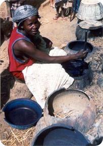 femme fabricant de l'indigo