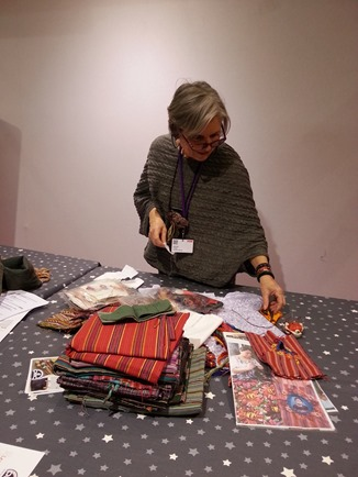 atelier de broderie Maya avec Sylvie Breton