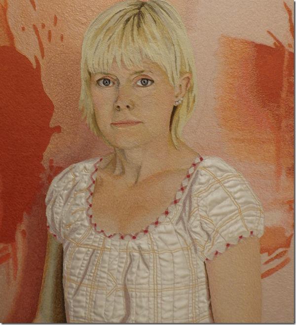 tableau textile fille de Malin Lager