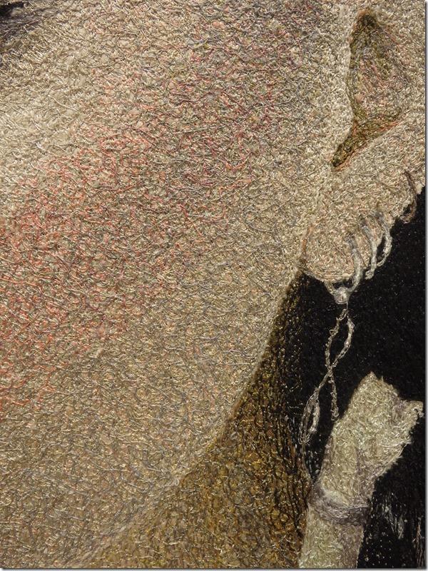 tableau textile punk détail