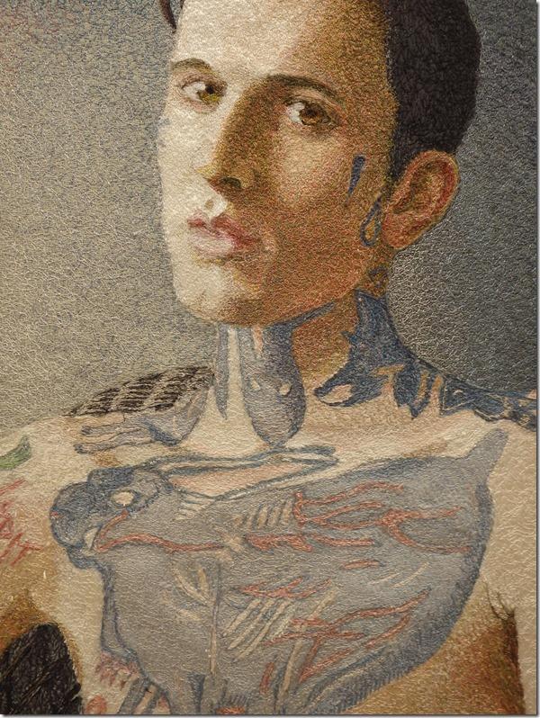 tableau textile tatouage